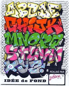 letra graffiti bomba abecedario - Buscar con Google