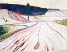 Winter Landscape, Thüringen, 1906. - Edvard Munch