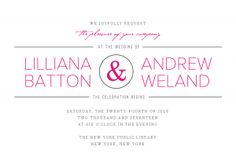 Personalized Stationery - Elegant Ampersand Invitation