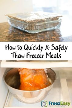 Quickly and Safely Thaw Freezer Meals
