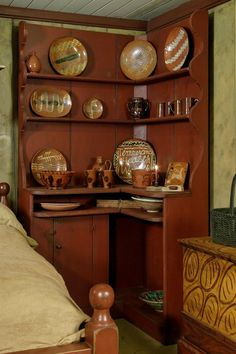 """Prim ""Corner"" Cupboard...love this.""  ~ Really charming...(and of course lots of 'display' room too :)... and I haven't seen too many around which makes it even sweeter <3 ~"