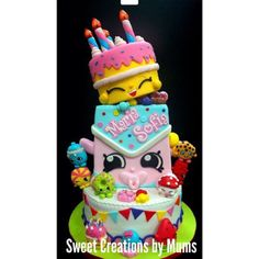 Now *that* is a birthday cake!! #Repost... - SHOPKINS LOVE