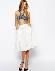 White Pencil Midi Skirt | Outfitsbible | White Skirt | Pinterest ...