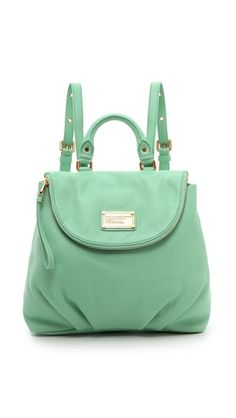GOT MY HANDY DANDY MINT BACKPACK!!!! loooveeee it Marc by Marc Jacobs Classic Q Mariska Backpack