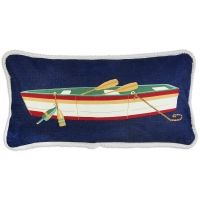 Row Boat Canvas Pillow