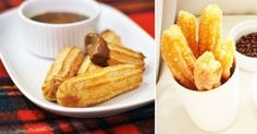 Cómo+hacer+churros+caseros+al+horno,+¡con+salsa+de+chocolate!+
