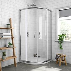 Pacific Offset Quadrant Shower Enclosure with Shower Tray & Waste - Left Hand Option at Victorian Plumbing UK Rectangular Shower Enclosures, Corner Shower Enclosures, Quadrant Shower Enclosures, Frameless Sliding Shower Doors, Sliding Glass Door, Sliding Doors, Framed Shower Door, Pivot Doors, Black Curtains