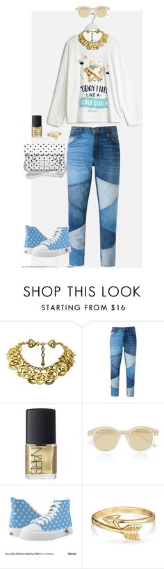 """""""Not just a pajama !!"""" by xemrahv ❤ liked on Polyvore featuring The Cambridge Satchel Company, Oysho, Chanel, Current/Elliott, NARS Cosmetics, Le Specs, Zipz and Bling Jewelry"""