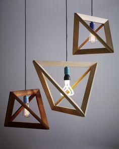 Lampframe, Wood Pendant Lamp by Herr Mandel