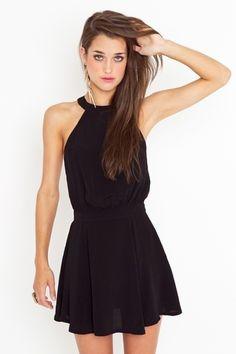 black dress sesgado