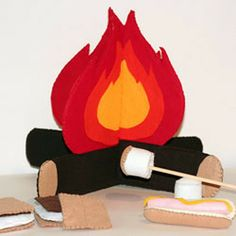 #felt and #imagination #uTAKE when tis campfire and marshmallows #uMAkE. This world food day 16 October, why not give the kids virtual dessert? Other kids somewhere will go without food at all
