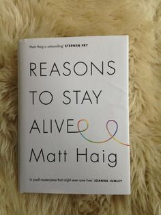 So! One person who retweets/repins this will get this signed edition of Reasons to Stay Alive. Go!