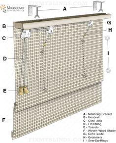 Ez Glide Cellular Honeycomb Shade Diagram Cord Loop