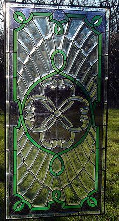 """Purple Rain""Celtic Rings Stained Glass Window"