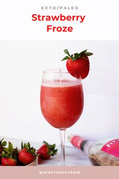Dairy Free Recipes, Keto Recipes, Healthy Recipes, Healthy Breakfast Recipes, Healthy Drinks, Strawberry Wine, Keto Drink, Frozen Strawberries, How To Eat Paleo