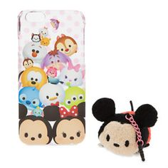 Tsum Tsum case for your iPhone 6 with a plush charm to clean your phone screen.