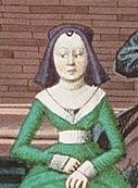 15 th century gown with hood