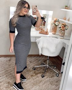plus size outfits for work womens clothes Curvy Outfits, Unique Outfits, Beautiful Outfits, Plus Size Outfits, Dress Outfits, Casual Outfits, Modest Wear, Modest Dresses, One Piece Dress