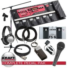 Boss RC-300 Loop Station Pedal COMPLETE PEDAL PAK