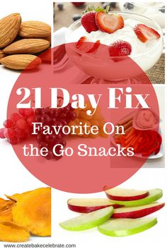 Great 21 Day Fix snack ideas! Or just healthy snacks in general!