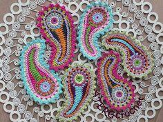 Crochet pattern paisley by ATERGcrochet por ATERGcrochet en Etsy