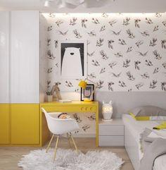 habitacion-infantil-amarilla-y-gris