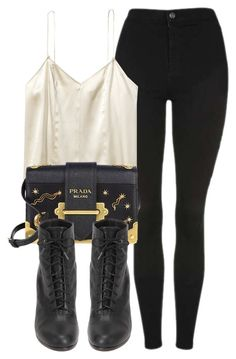 """""""Untitled #6814"""" by laurenmboot ❤ liked on Polyvore featuring Topshop, Prada and rag & bone"""