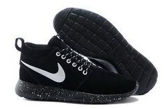 best website 1ec1f a769d chaussures nike roshe run anti-fur Mid femme (noir noir blanc logo) pas cher  en ligne en france.