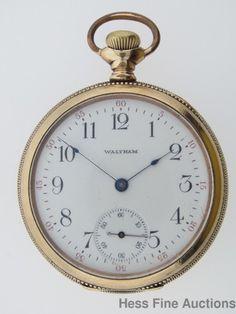Massive Antique Waltham Traveler Vintage Mens Running Pocket Watch