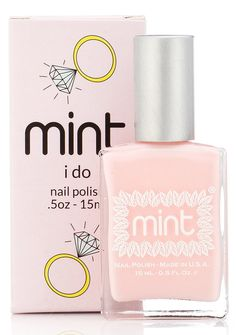 Mint Nail Polish in I Do is an elegant, pale pink polish that will always be in style.