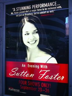 To see Sutton Foster in a Broadway show or in concert! :)