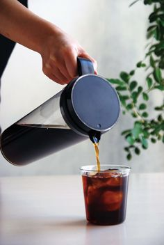 PLUG ICED COFFEE JUG The recipe for a cold brew is simple: place your coffee grounds in the filter, add cold water, and let sit. Enjoy your smooth iced coffee! Cold Brew Iced Coffee, Carafe, Plugs, Brewing, Coffee Maker, Container, Filter, Smooth, Drinks