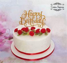 Vanilla sponge birthday cake with raspberry jam and buttercream Vanilla Sponge, Catering Services, Celebration Cakes, Raspberry, How To Memorize Things, Birthday Cake, Tasty, Dishes, Desserts