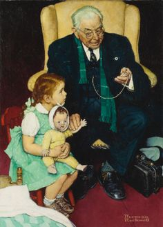 "Maurice & Defayna's daughter-My mom Marilyn was the model for this Norman Rockwell painting, ""Doctor and Doll"" , along with her sister Libby. After my mom died, her sister is claiming she was the sole model. Too funny what sibling rivalry does to grown people. LOL"