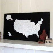 love this idea, date each state visited in paint marker for memory board