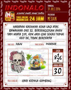Prediksi Togel Online Live Draw 4D Indonalo Medan 31 Juli 2016