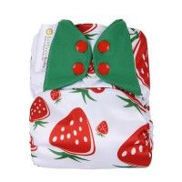 Sunflowerbaby Stay Dry Strawberries Cloth Diaper - Name: Sunflowerbaby Stay Dry Strawberries Cloth Diaper  Material: 1.Outer layer:High air permeable compound TPU  2.inner layer:Stay dry suede  Size:one size (S/M/L) Waist adjusting range: 8-35LBS suitable for 0-30 months baby Reference of use:One pocket diaper with one insert