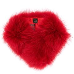 Mr & Mrs Italy racoon fur scarf (62.480 RUB) ❤ liked on Polyvore featuring accessories, scarves, red, red scarves, red fur shawl, fur shawl, red shawl and fur scarves