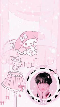 Vkook Fanart, Cute Photos, Cute Wallpapers, Iphone Wallpaper, Taehyung, Jimin, Strawberry, Pastel, Fan Art