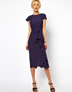 ASOS | ASOS Tulip Dress With Waterfall Skirt at ASOS