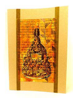 Rabbit rubber stamp / Rabbit teacher / Unmounted by MAKIstamps