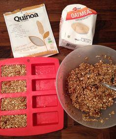 Gepofte quinoa havermout repen