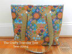 travel handmade crafty traveler tote pattern from ellison lane