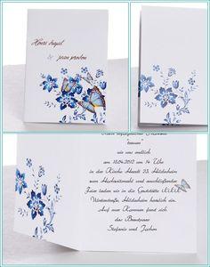 Hochzeitseinladungen-Blau-Schmetterling-blume-günstig-online-kaufen ...