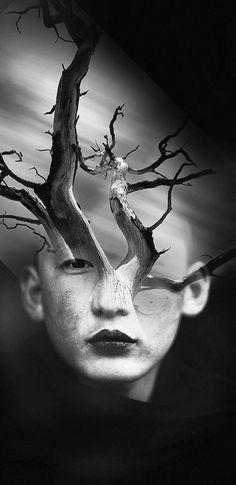 """Je vous propose aujourd'hui les créations de l'artiste espagnolAntonio Mora, qui avec son projet """"Dream Portraits"""",réalisedes portraits surréalistes en"""