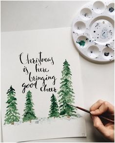 Xmas Christmas Cards – Merry Christmas & Happy New Year 2019 Quotes Watercolor Christmas Cards, Christmas Drawing, Diy Christmas Cards, Noel Christmas, Merry Little Christmas, Christmas Design, Xmas Cards, Winter Christmas, Diy Cards