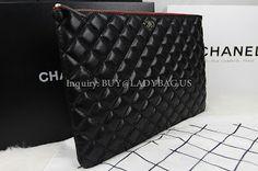 Chanel Black Zipped pouch bag in lambskin