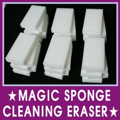 Buy melamine foam instead of Magic Erasers.You can get 10 of these for $5.90. Melamine foam is the main component of Magic Erasers.