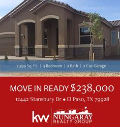 Carefree Homes-Americas Estates Beautiful home available...call Moises at 915-342-8066