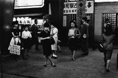 "YUTAKA TAKANASHI Chiyoda-ku: Yurakucho Station, from the series ""Toshi-e"", 1965 gelatin silver print, printed ed. x cm Japanese Photography, Gelatin Silver Print, Japan Photo, Famous Photographers, Vintage Photos, Street Photography, Tokyo, Portrait, City"